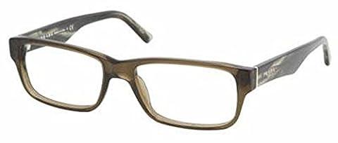 Prada Men's 16m Wood Frame Plastic Eyeglasses, 55mm