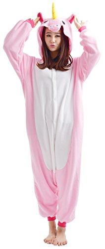 2c7603b651929 YARBAR Adultes Kigurumi Animaux Pyjamas Costume Anime Cosplay Halloween  Licorne Onesie - M