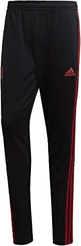 adidas Herren Manchester United FC Training Hose, Black/Blaze Red/Core Pink, S
