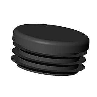 ajile - 12 Stücke - Lamellenstopfen Rundrohrstopfen Durchmesser 18 mm Stopfen - SCHWARZ - EPR118-A
