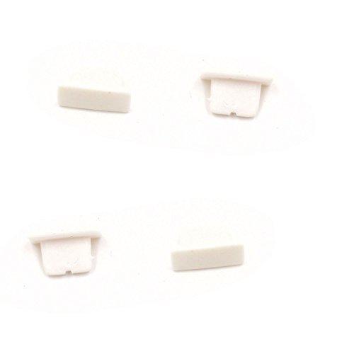 """smartec24® x Staubschutz-Set """"Rechteckig"""" in schwarz für Apple iPhone 6/6S 6Plus/6SPlus Silikon Staubschutz-Set 1x Dockstaubschutz 1x Audiostaubschutz Stöpsel für den Audio- und Lightning Lade-Eingang 4x iPhone 7 weiß"""