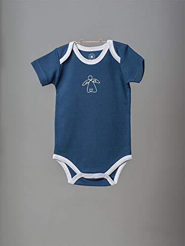 Organic by Feldman Unisex Baby Body Kurzarm aus Bio Baumwolle, GOTS Zertifiziert, Schutzengel Ozeanblau, (86/92) - 3