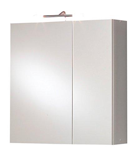 #Kesper Badmöbel 8214000000001002 Spiegelschrank Trento, 2 Türen, 2x 20 W, Stableuchte, 70 x 65 x 20,5 cm, weiß#