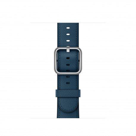 Apple klassisches Lederbraccialetto Watch 38mm kosmosblau