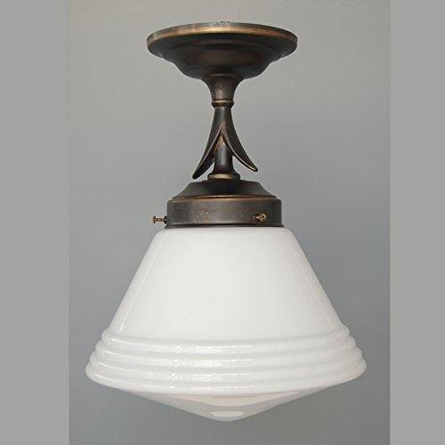 LMS Leuchten Pendelleuchte P 23-10 mit Glas C-38 Art Déco Deckenlampe Hängeleuchte Wohnraumleuchte