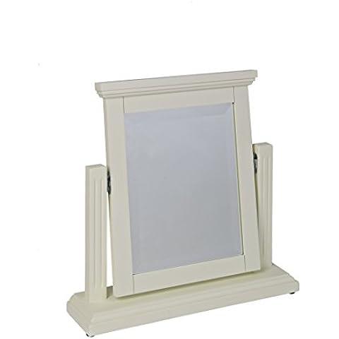 Malpas - Specchio reclinabile per tavolino da toletta, in legno verniciato, colore: bianco
