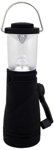 Milestone Camping 52570 4 Super Bright LED Wind Up Lantern H20 x W7 x D8cm Black