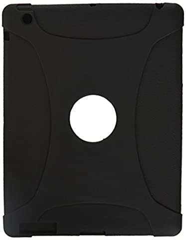 Amzer Exclusive Silicone Skin Jelly Case Cover for Apple iPad 2 - Black