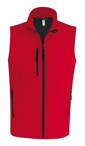 Softshell Weste Red