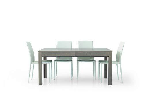 Fashion Commerce Tavolo Allungabile, Grigio, 160 x 90 x 75 cm
