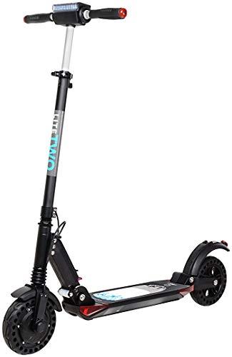 eFlux Elektroroller Scooter - 500 Watt Motor - Bis 30 km/h - 30 Km Reichweite - Nur 10,8 Kg leicht - Klappbar - E-Scooter (Lite Two Schwarz)