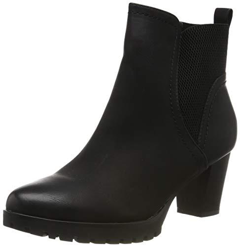 Elara Ankle Boots | Trendige Damen Stiefeletten | Blockabsatz Plateau | Chunkyrayan 6697 Black-40