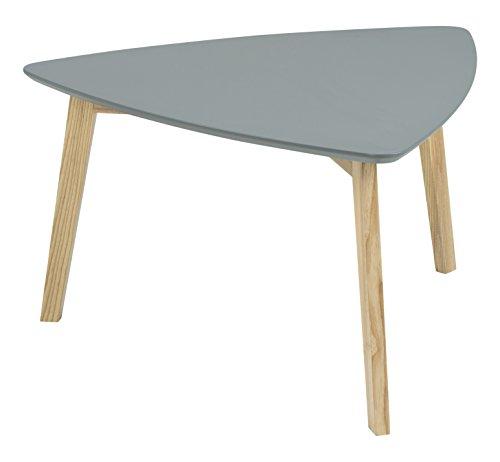 AC Design Furniture 60354 Mette Table Basse, Dessus en Verre avec Finition laquée, Gris foncé Naturel