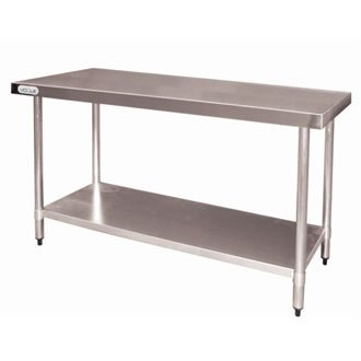 Vogue T377 Table en acier inoxydable