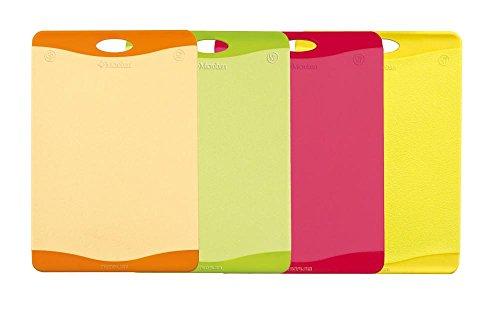 culinario 4er Set Schneidebretter mit Hygiene-Schutz, 45 x 31 cm, in 4 Farben