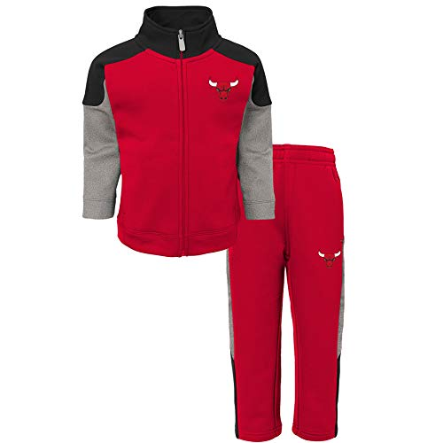 NBA Jungen Sportswear-Set Chicago Bulls-Sweater and Jog Pants, Rot (Red/Black/Grey RBG) 2 Jahre (Herstellergröße: 24 Monate)