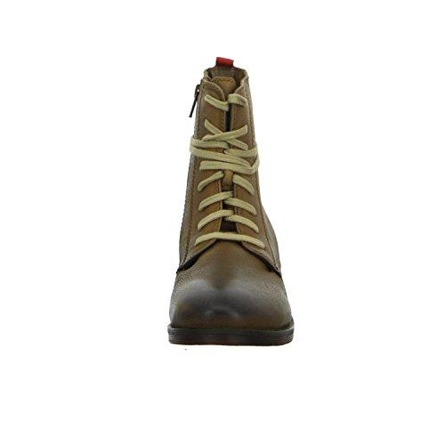 BOXX 3409/116 Damen Schnürstiefelette Warmfutter sportlicher Boden Braun (Braun)