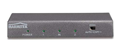 Marmitek Split 612 UHD 2.0 - HDMI Splitter - HDMI Verteiler -  1 ein / 2 aus - 3D   4K60 (4:4:4) - Ultra HD - 3840 x 2160/60 Hz - HDCP 2.2 - Metallgehäuse