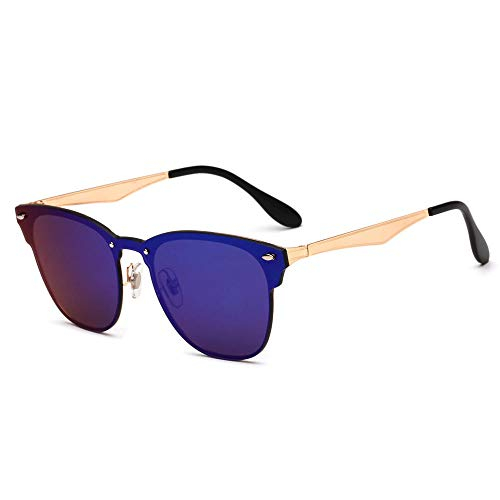 ANSKT Damen Sonnenbrille Retro Einteilige Nietsonnenbrille Herren und
