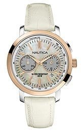 Nautica N19579 M – Wristwatch women's, Strap in Montone White