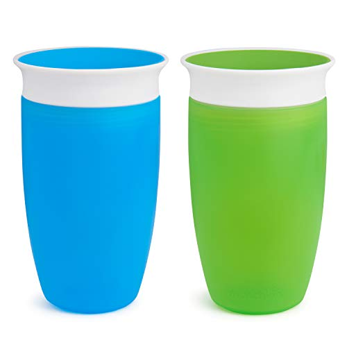 Munchkin Miracle 360 Sippy Cup, Green/Blue, 10 Ounce, 2 Count by Munch