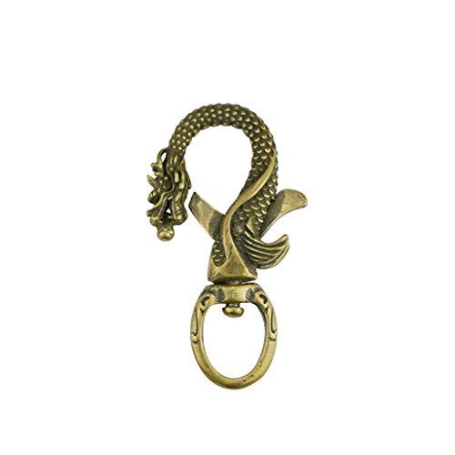 Schlüsselbund - handgefertigte Sternzeichen Amulette Glücksbringer gefertigt - Vintage handgefertigte Drache aus reinem Kupfer Schlüsselbund Anhänger 12 Sternzeichen Drache -