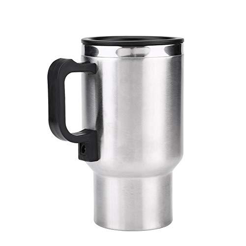 Hervidor eléctricos 12V coche, taza de calefacción eléctricos coche con enchufe del encendedor 450ml acero inoxidable para calentar café y té