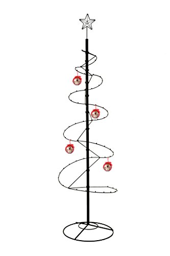 hohiya Metall Ornament Display Baum Ständer Spirale Haken Aufhänger Weihnachten Halloween Kugel Ball Hund Katze Glas Class Foto Personalisierte Home Party Craft Country Dekorationen 213,4cm (schwarz)