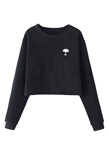 choies-womens-black-alien-pattern-print-long-sleeve-plain-cropped-sweatshirt-top-s