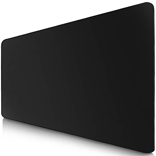 Sidorenko XXL Gaming Mauspad - 900 x 400 mm - Fransenfreie Ränder - rutschfest - XXL Mousepad I Tischunterlage - spezielle Oberfläche verbessert Geschwindigkeit und Präzision I schwarz