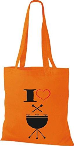 Shirtstown Stoffbeutel Musik I love Steel Pan Orange