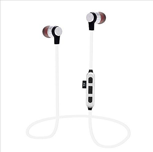 Td auricolare stereo auricolare stereo con auricolare bluetooth, microfono integrato cvc6.0 è adatto per iphone/huawei/blackberry/xiaomi e altri smartphone. (colore : bianca)