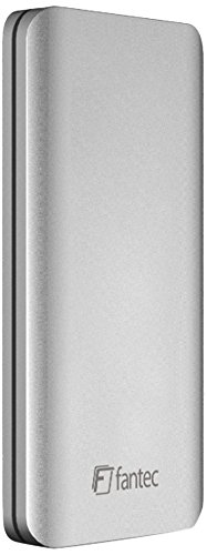 FANTEC ALU31mSATA Externes Festplattengehäuse für den Einbau einer mSATA SSD, USB 3.1 SUPERSPEED+, Aluminium Gehäuse mit LED, silber