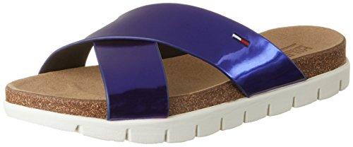 Tommy Hilfiger S1385lide 2z, Sandali con Zeppa Donna Blu (Royal Blue 414)