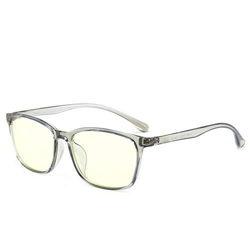 Shiduoli Anti-Blue-Light-Brille Rahmen Anti-Strahlung Brille Computer Brille Nicht verschreibungspflichtige Brille für Frauen (Color : Gray)