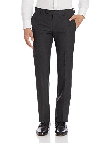 Arrow Men's Formal Trousers (8907378747204_ARGT0612A_34W x 38L_Charcoal Melange)