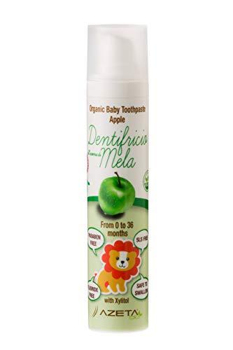 Organic Zahnpasta mit Apfelgeschmack - Baby 0-3 Jahre - ohne Fluorid - AZETABio - 50 ml ...