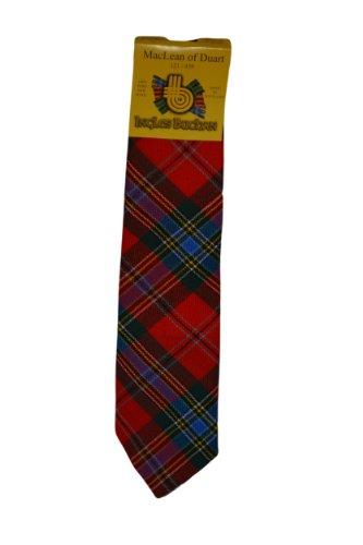 mens-wool-tartan-tie-maclean-duart-modern-red