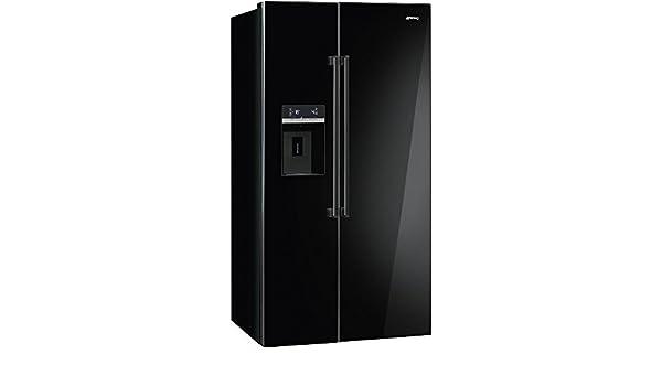 Retro Kühlschrank Anthrazit : Smeg sbs63ned kühlschrank kühlteil373 liters gefrierteil155