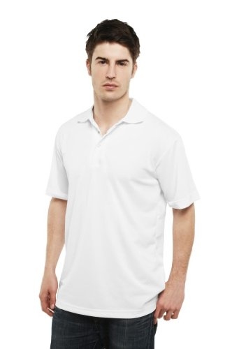 MAKZ Herren Poloshirt Weiß - Weiß
