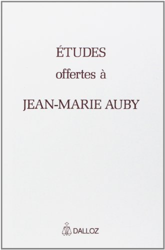 Mlanges offerts  Jean-Marie Auby by Collectif (1997-12-01)