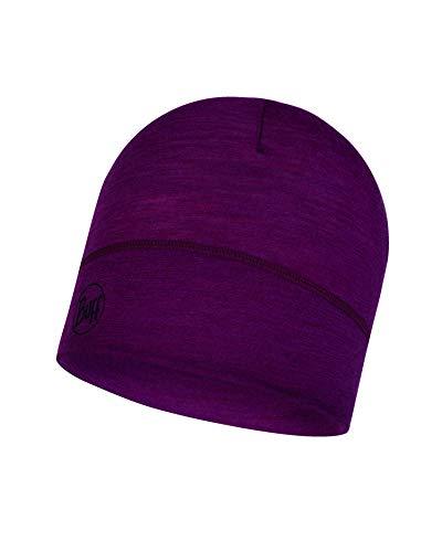 Buff Lightweight Merino Wool Hat, Solid Purple Raspberry, One Size Merino Winter Cap