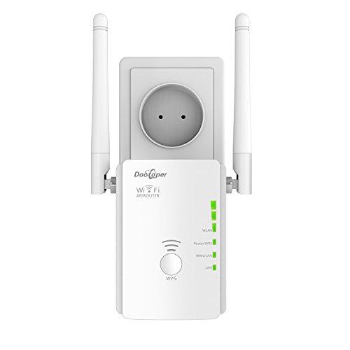 Wlan Repeater Signal Verstärker ( 300 Mbit/s, 2 LAN-Ports, WPS, kompatibel mit allen WLAN Geräten, Geeignet für Deutschland) (300M)