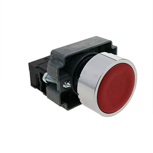 BeMatik - Momentary Taste Push Button Schalter 22mm 1NC 400V 10A geschlossen normalerweise rot