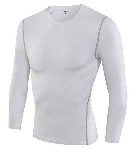 e5f3908ab1a4 GUOCU Herren Fitness Tight Trainingshemden Langärmliges Langarm  Kompressionshemd Plus Cashmere