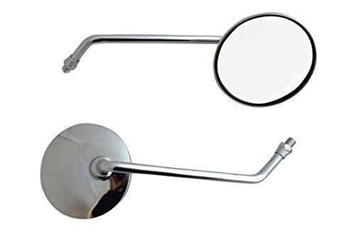 Paar für Roller Mofa Spiegel, rund, Chrom, Einheitsgröße, 8 mm