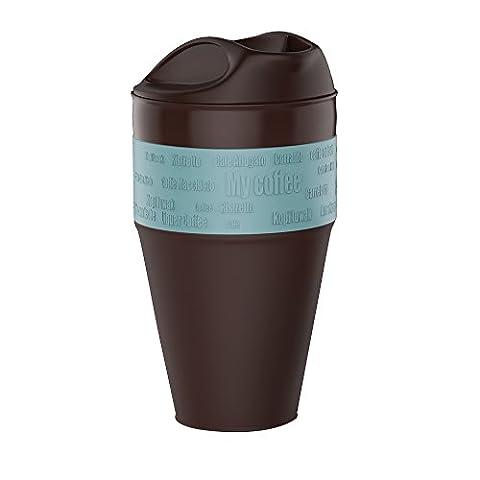 Jerrybox Mug 350ml, Tasse Pliable En Silicone, Sans BPA, Ecologiste, Coffee To Go, Un Gobelet Porté Facilement (Bleu Clair)