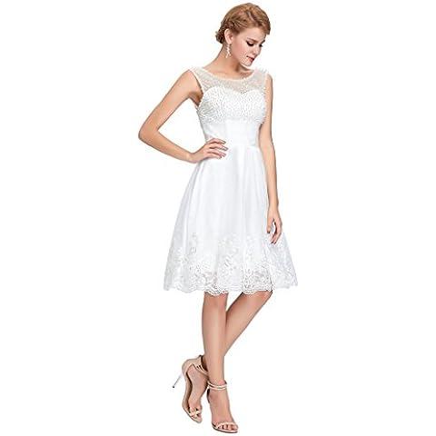 Vestido boda novia coctel hasta talla 50.