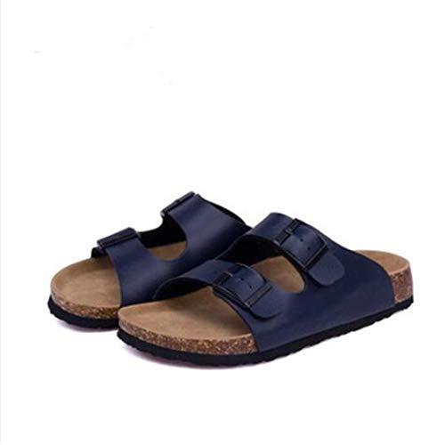 Frauen Slide Sandalen Open Toe Slip on Double verstellbare Schnallen Sandale Kork Fußbett Sommerschuhe 5-zoll-clear-mule