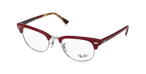 Rayban Unisex-Erwachsene Brillengestell RX5154, Rot (Red On Texture Camuflage), 49
